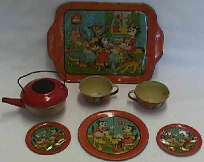 Chein Co Tea set tin toy