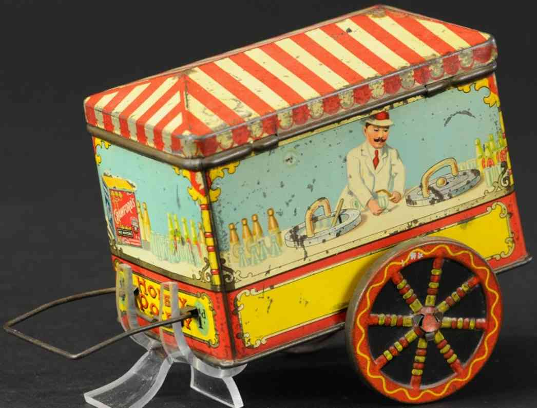 crawford william & sons tin toy street vendor candy