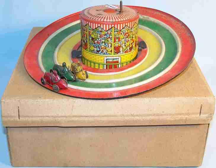 distler 576 tin toy motor racer three cars
