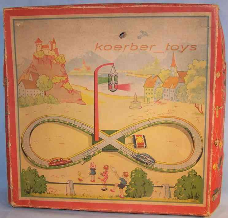 distler johann tin toy traffic light railway with clockwork