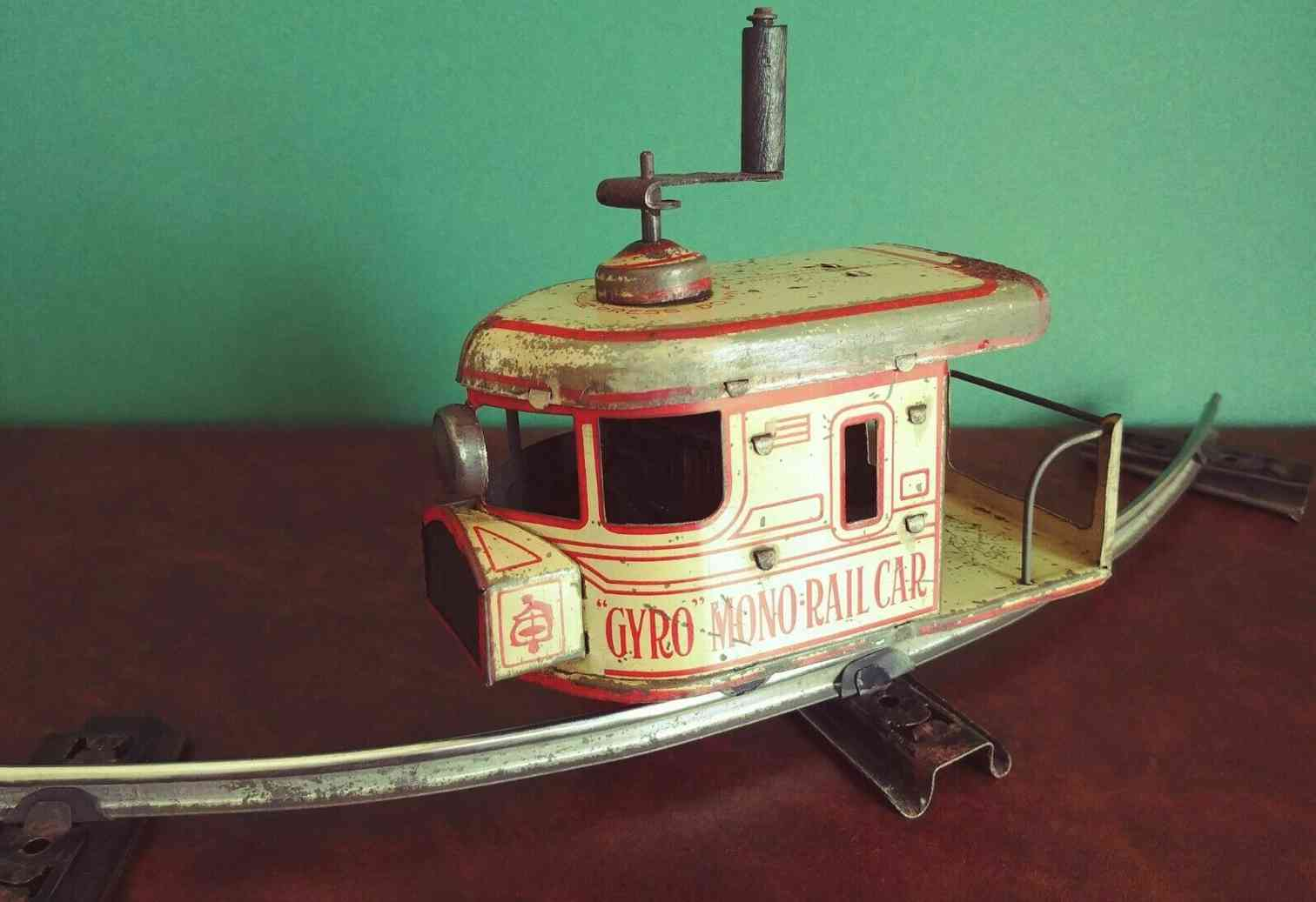 ely cycle co tin toy gyro monorail