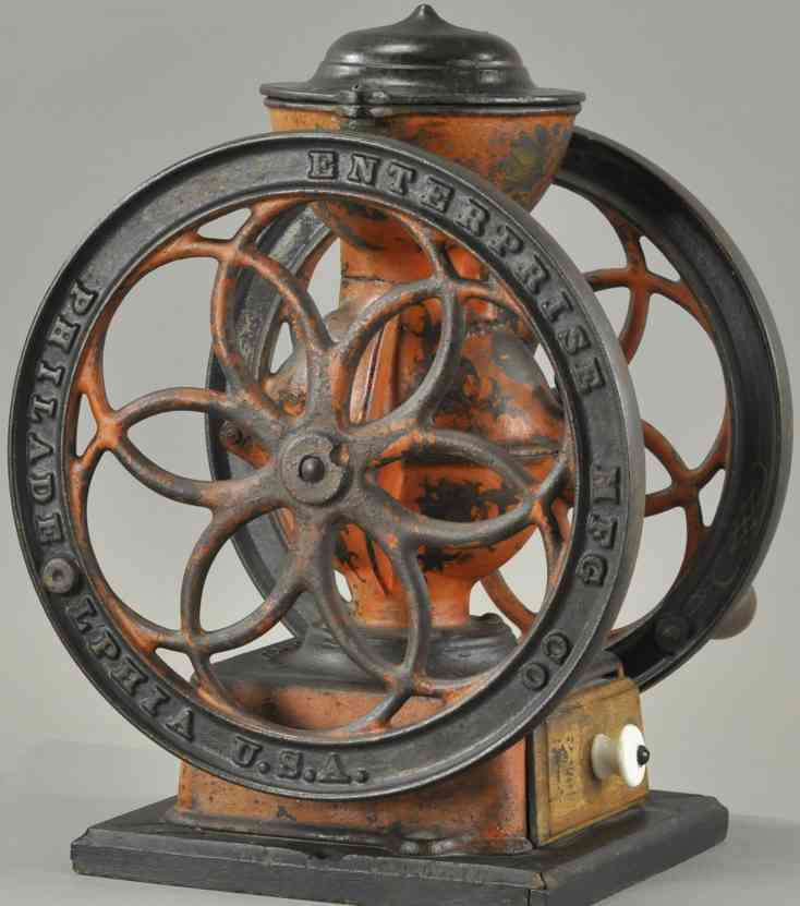 enterprise manufacturing co 3 cast iron toy coffee grinder