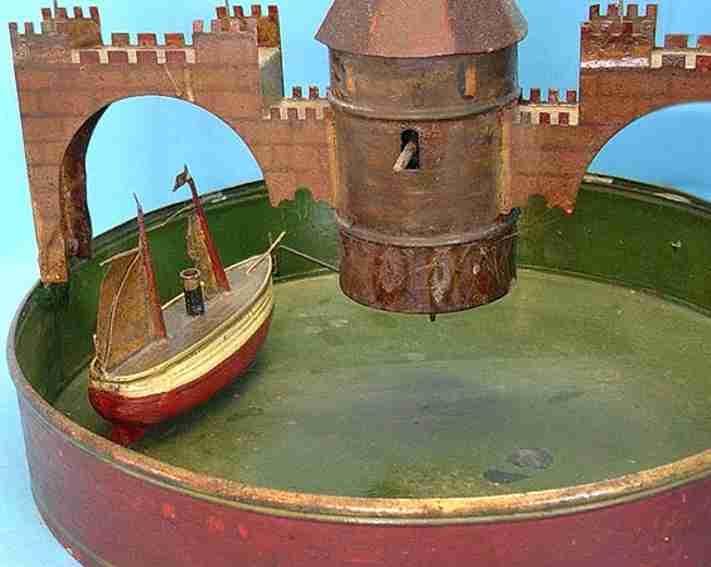 Fleischmann Bassin mit Schiff und Uhrwerk