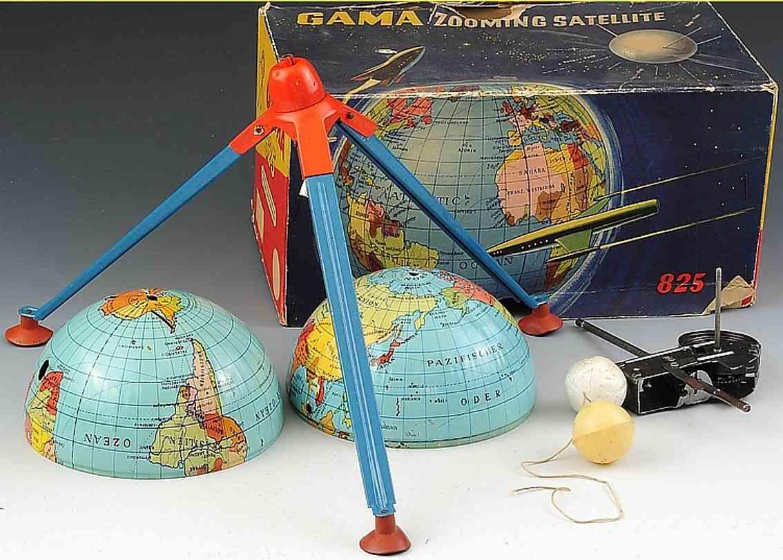 gama 825 blech spielzeug zooming satellite mit uhrwerk