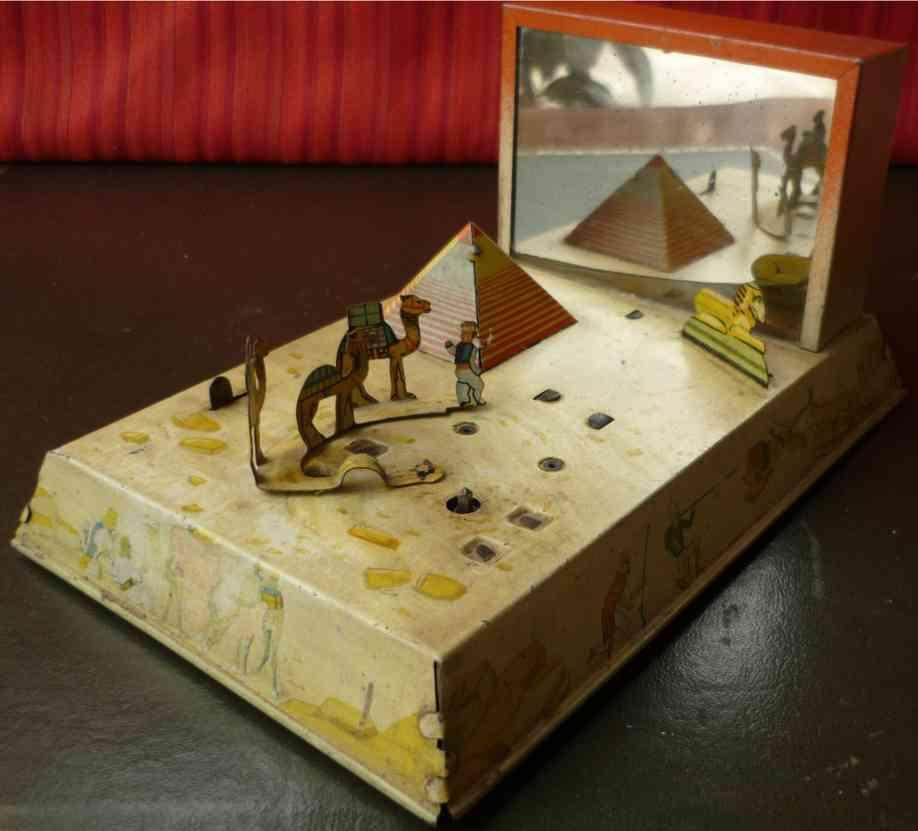 gama blech spielzeug fata morgana mirage szene pyramide wueste