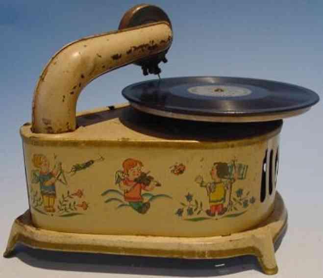 gama blech spielzeug kinder grammophon mit uhrwerk und kleinen engel
