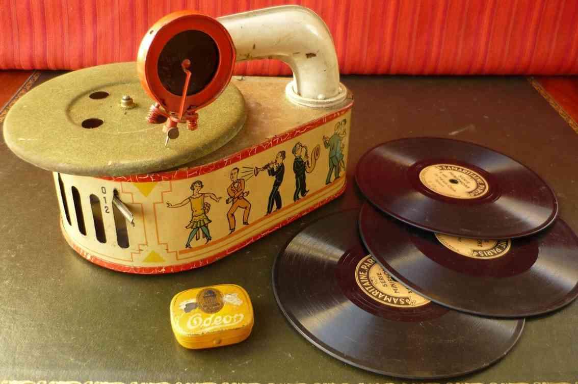 gama blech spielzeug grammophon uhrwerk jazzspieler