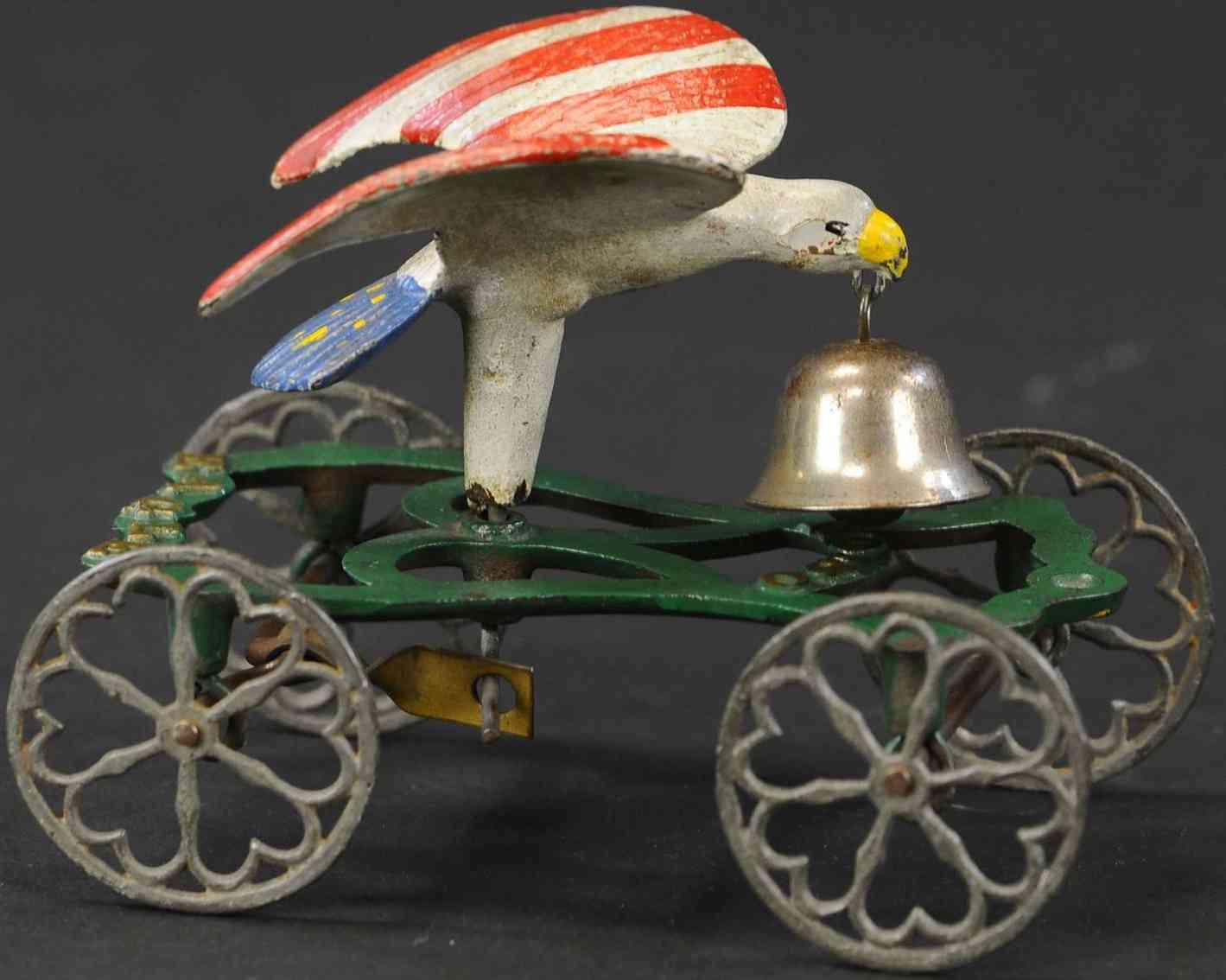 gong bell 50 spielzeug gusseisen patriotisches glockenspiel adler