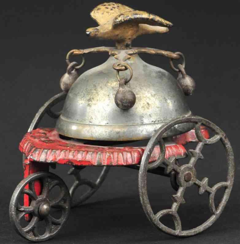 gong bell gusseisen feuerwehr glockenspielzeug  kuppel adler kloeppel