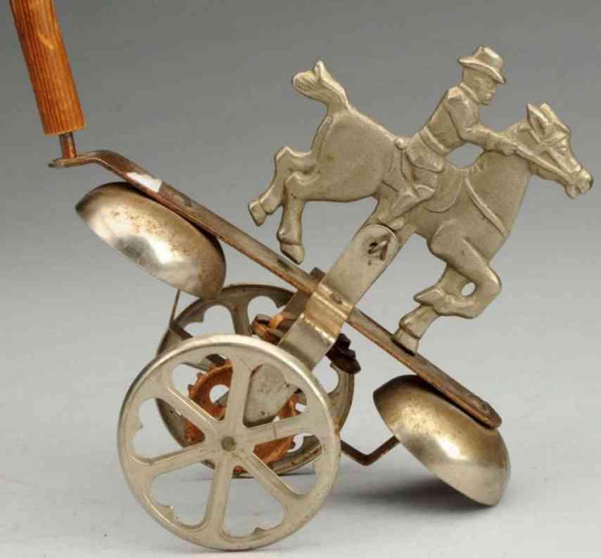 gong bell spielzeug gusseisen teddy roosevelt glockenspielzeug