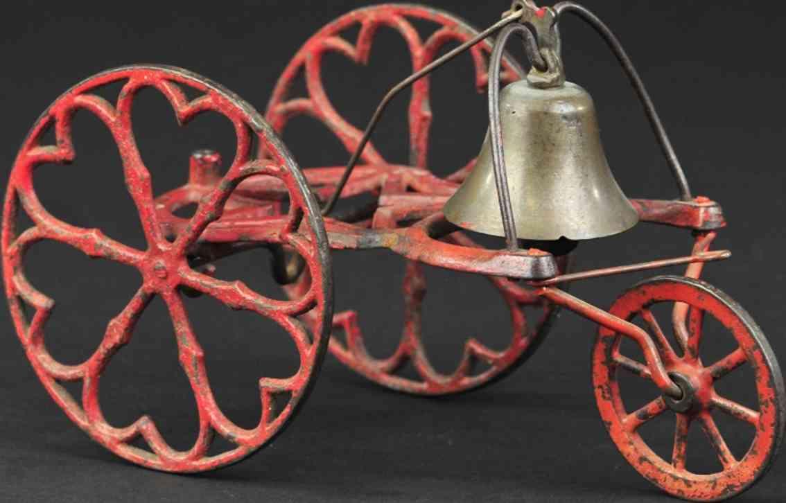 gong bell gusseisen glockenspielzeug drei raeder