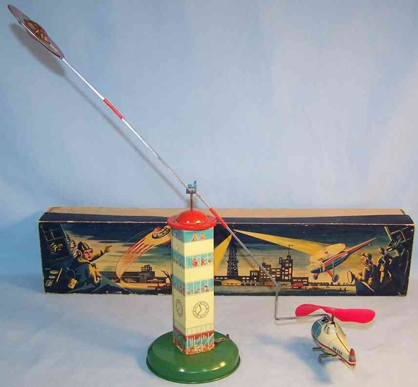 hammerer & kuhlwein 560 tin toy strato-copter clockwork tower