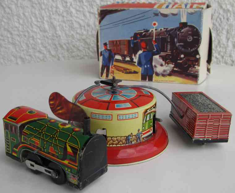 hausmann  tin toy game locomotive clockwork