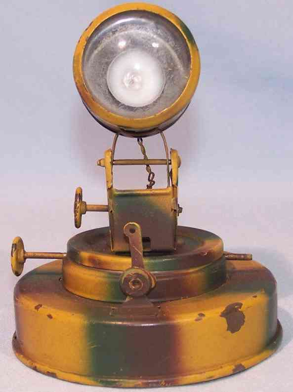 hausser elastolin military tin toys headlight