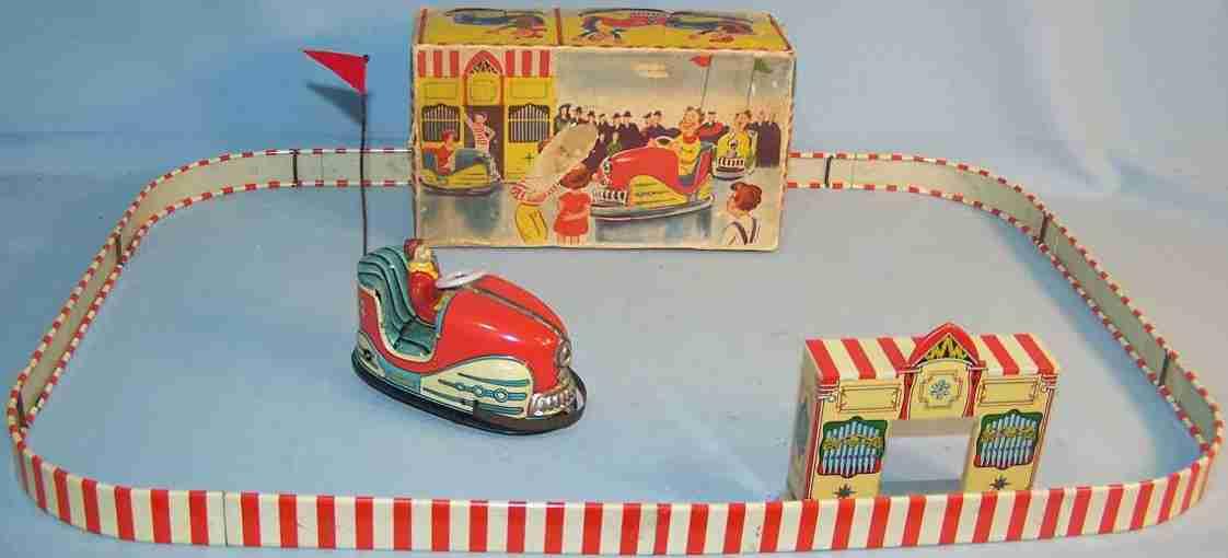 hoch & beckmann 730/1 tin toy autoscooter clockwork