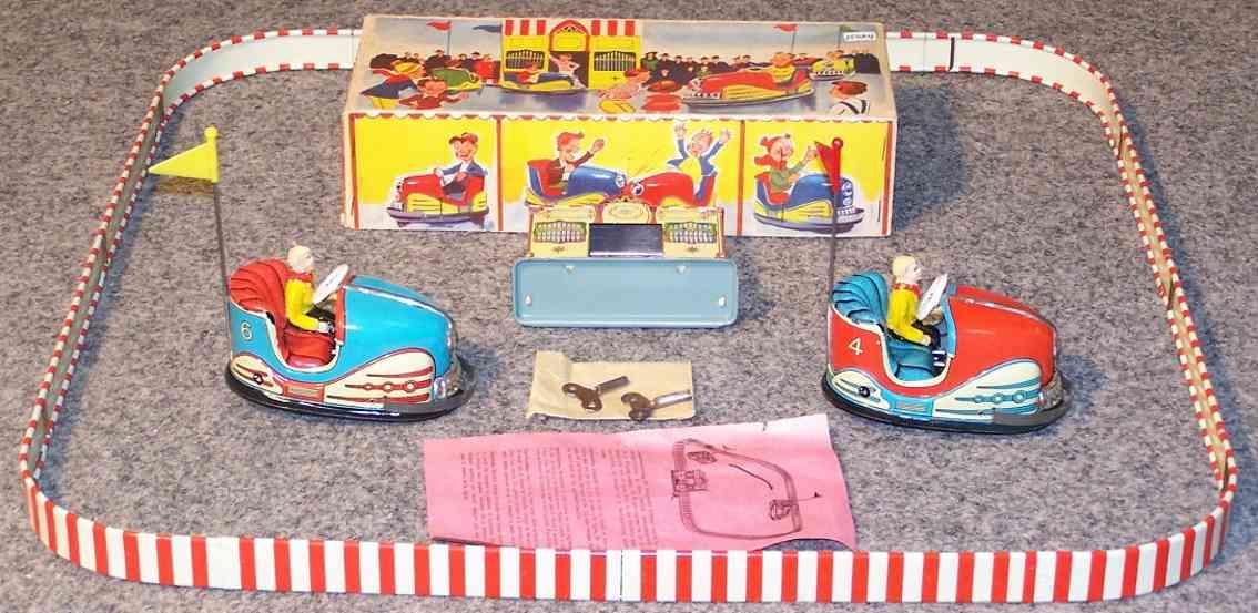 hoch & beckmann 730/2 tin toy bumper car track