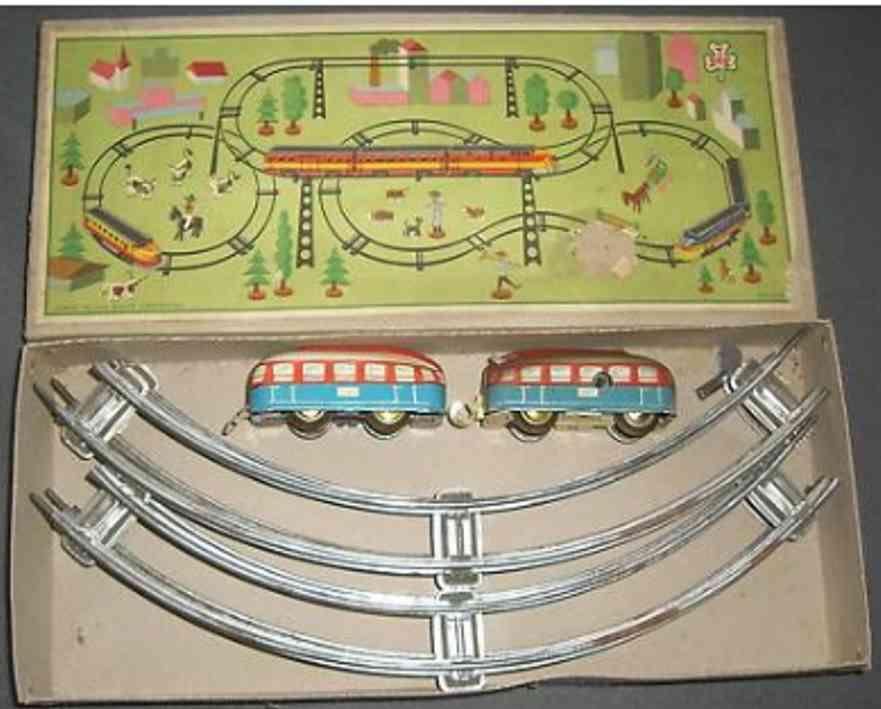 hofler j h tin toy railway with clockwork