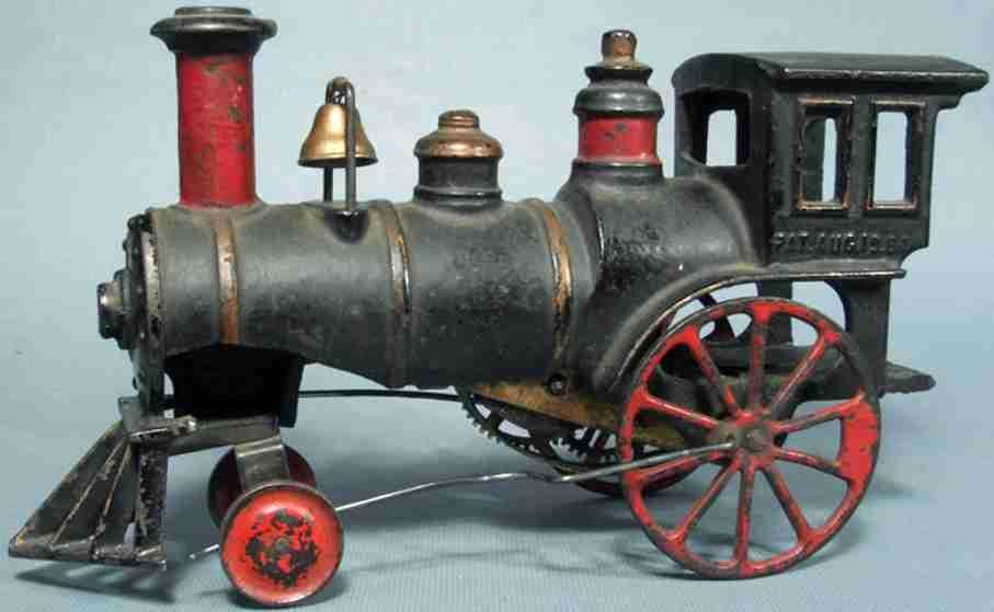 ives spielzeug gusseisen lokomotive mit uhrwerk