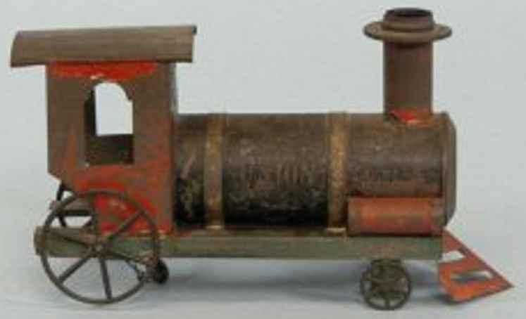 ives blech spielzeug alte amerikanische lokomotive, handbemaltes blech, schwarzer