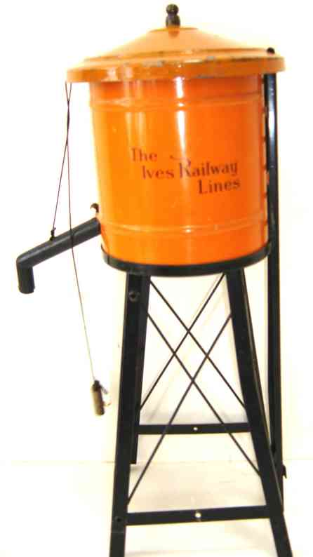 ives 89 1923 tin toy water tower