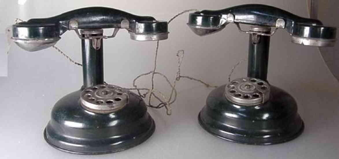 jep blech spielzeug kinder-telefonanlage; 2-teilig; aus blech, schwachstrom; ver