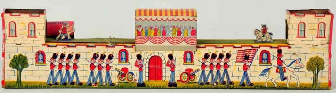 katz toy company 112 blech spielzeug soldaten parade