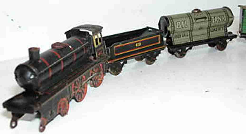 Kellermann 100 Schlepptenderlokomotive mit Tender und 4 Waggons