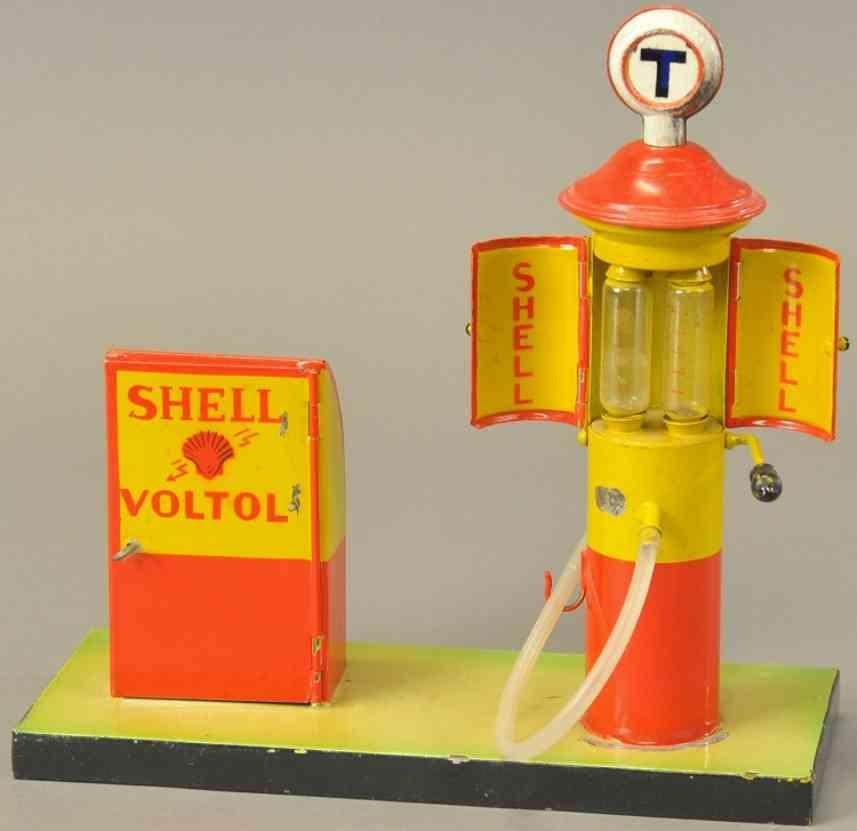 kibri blech spielzeug shell oel- und gasinsel zapfsaezle