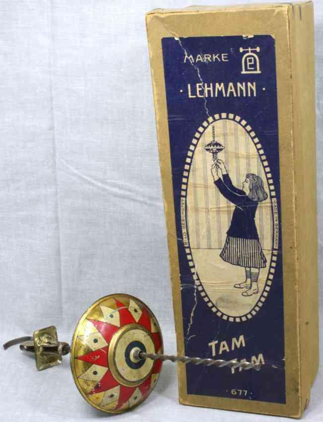 lehmann 677 tam-tam blech spielzeug spiralantrieb