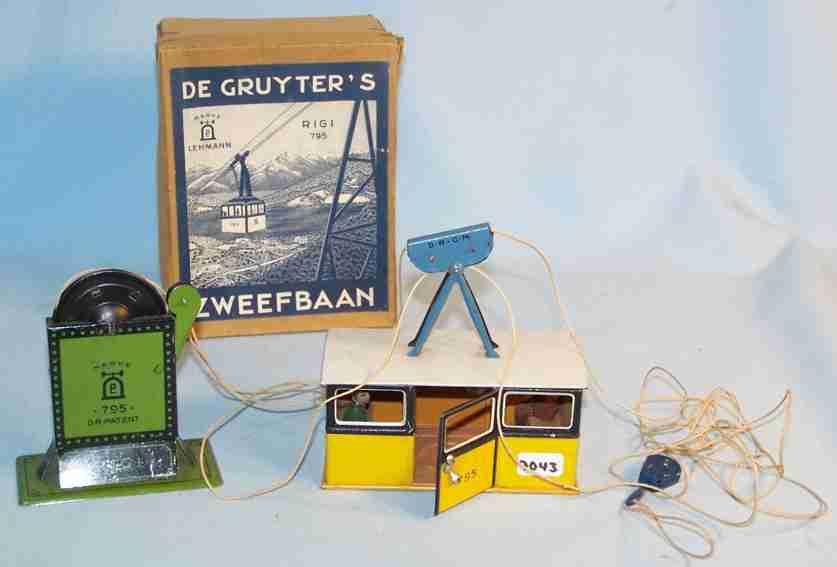 lehmann 795 tin toy rigi cable railway