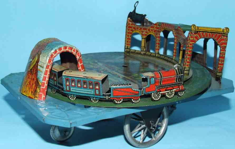 Levy George Gely 95 Tunnel train pull toy