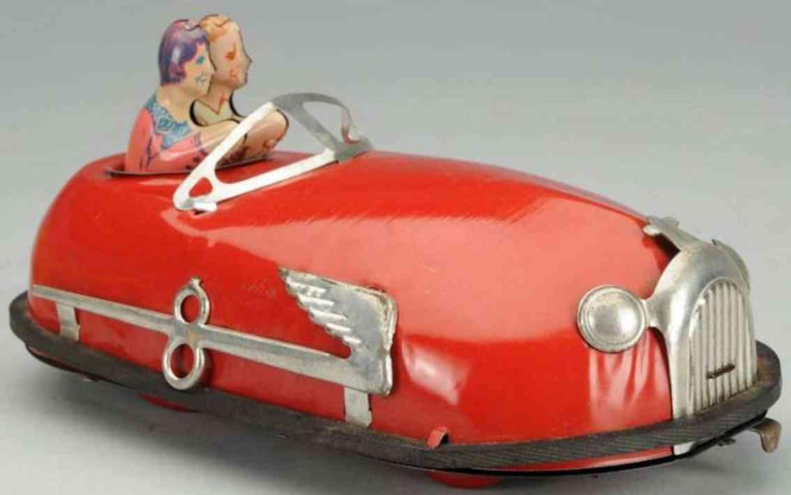 lindstrom tin skeeter bug wind-up toy woman man