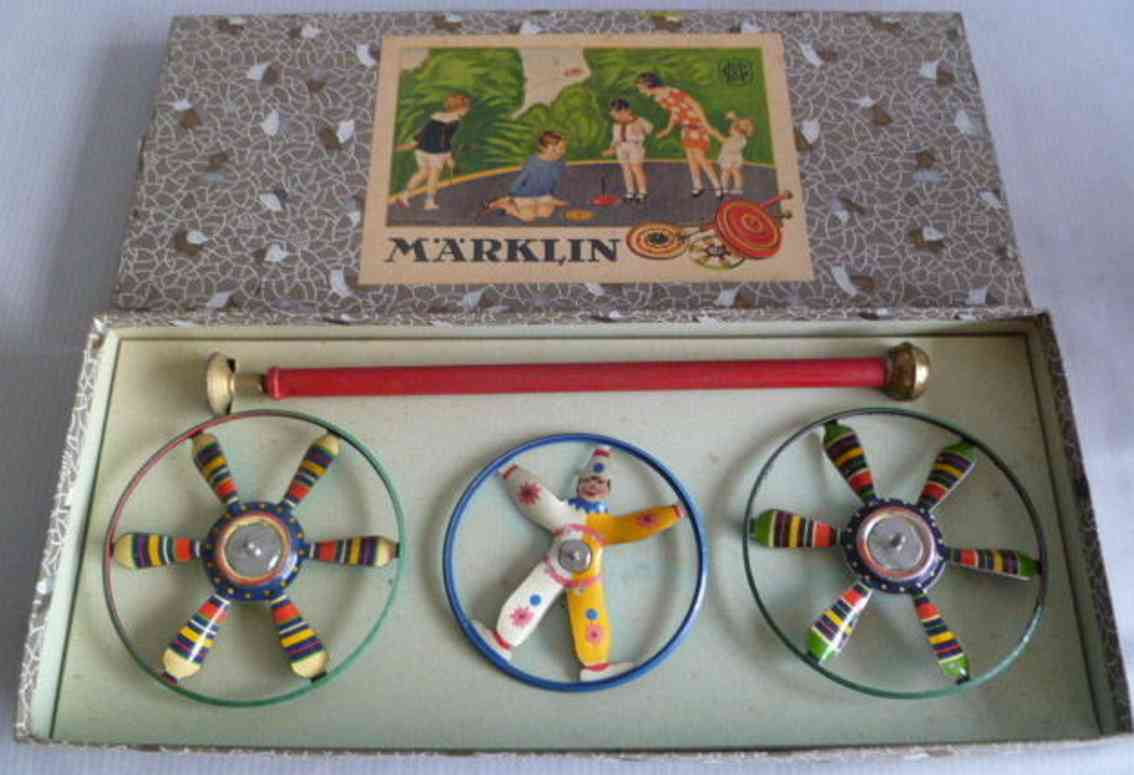 marklin 9084/3 tin toy spinner set with three spinners