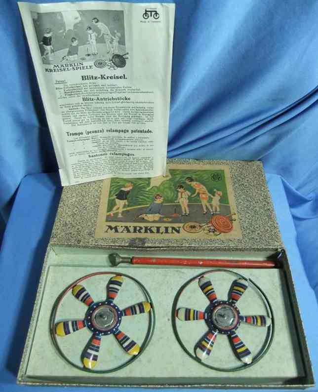 marklin maerklin 9087/2 tin toy top game with instructions