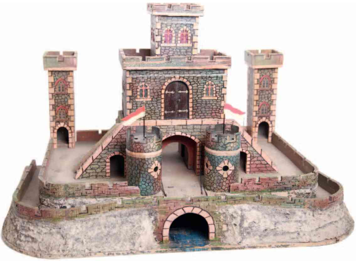 marklin maerklin tin toy castle complex of tinplate wood and canvas