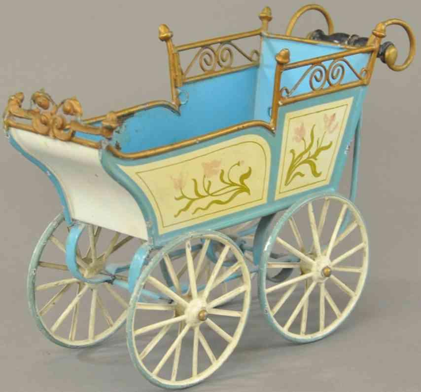 maerklin blech spielzeug kinderwagen blau