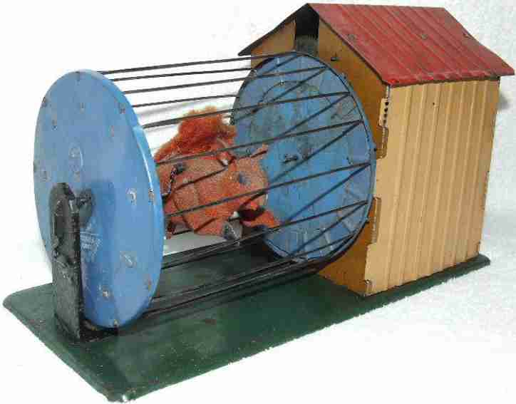 martin fernand 211 tin toy le petit ecureuil vivan squirrel in cage