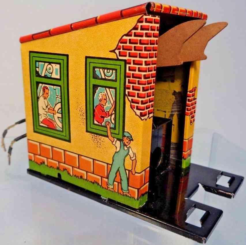 marx louis 1614 tin toy coal dumping station side dump car gauge 0
