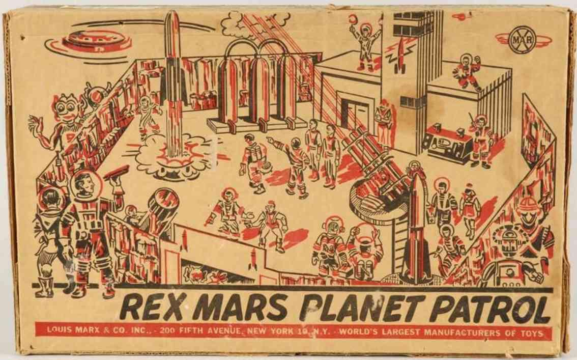 Marx Louis C Co. 7014 Rex Mars Planet Patrol Spielset