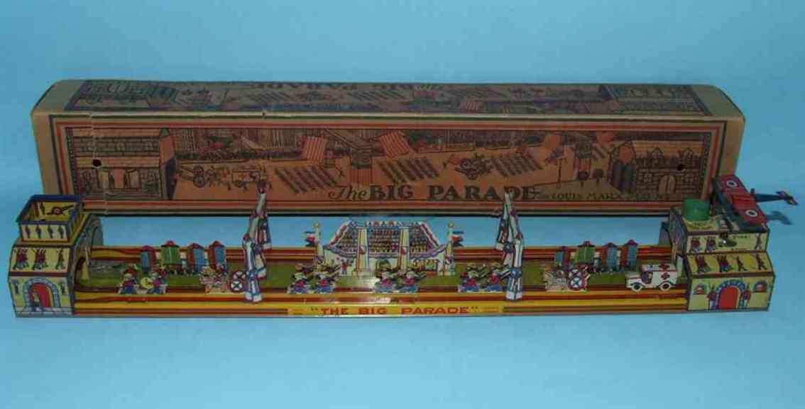 marx louis 800 tin windup toy the big parade