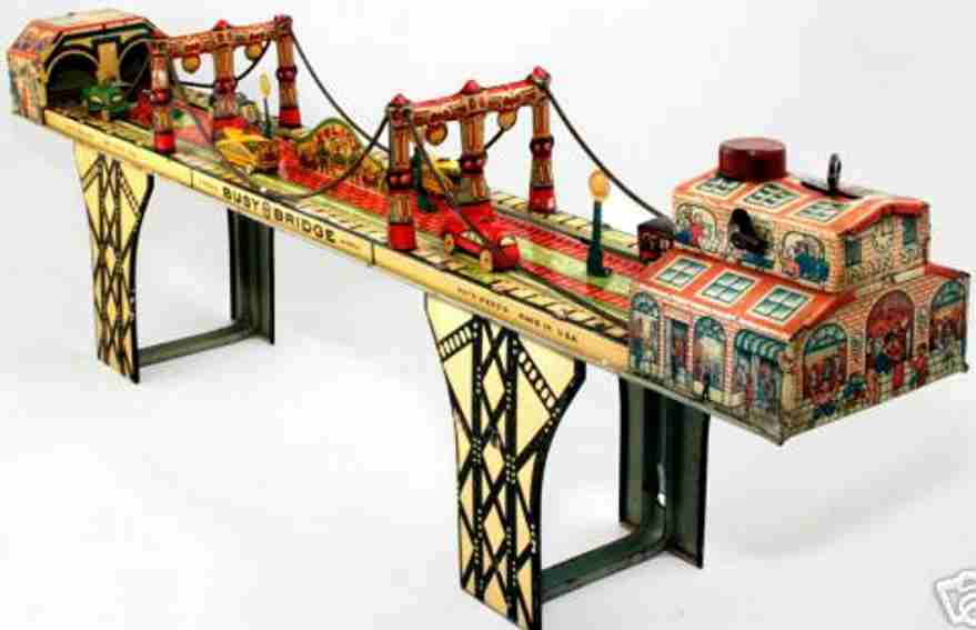 marx louis blech spielzeug busy bridge bruecke