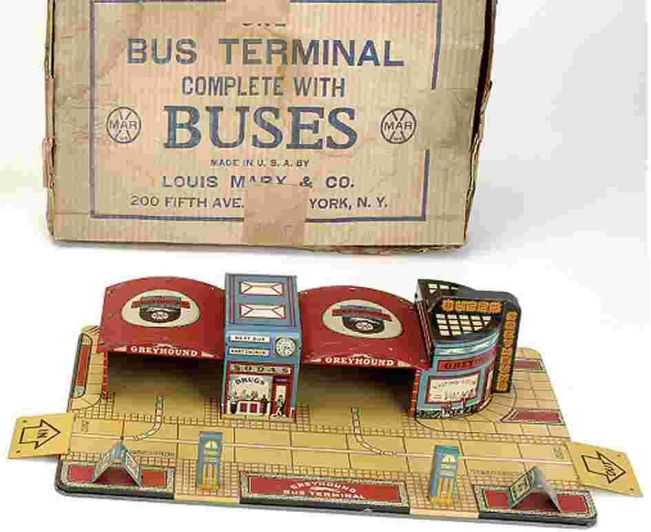 Marx Toys Bus station
