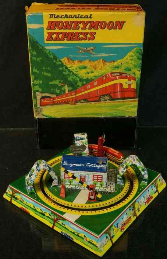 marx louis tin toy honeymoon express cottage wind-up