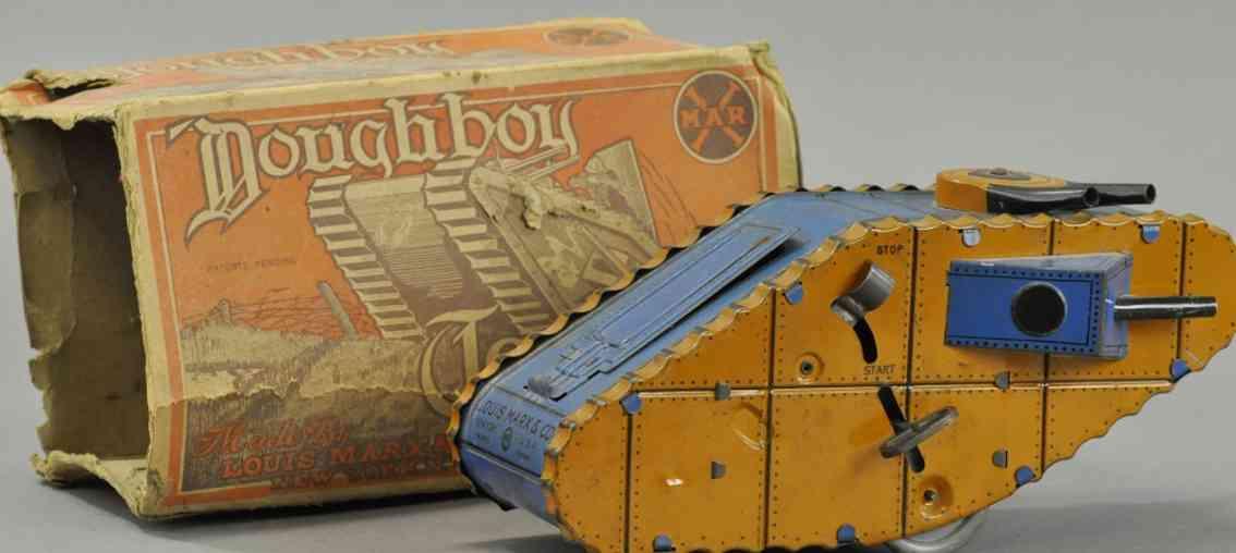 marx louis blech spielzeug doughboy panzer uhrwerk soldat