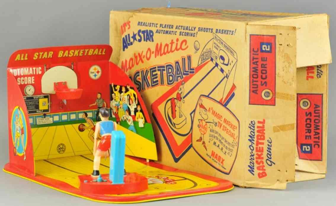 marx louis tin toy basketball table game