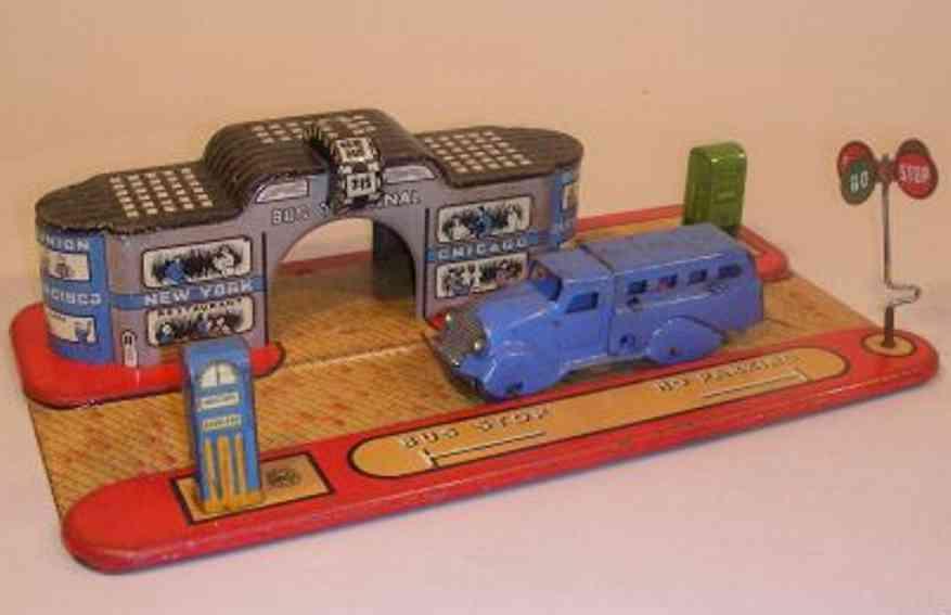 Marx Louis Bus Terminal blue gasoline pump
