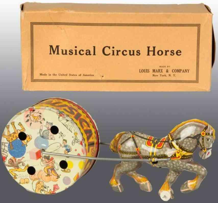 Marx Louis  Zirkuspferd mit Trommel