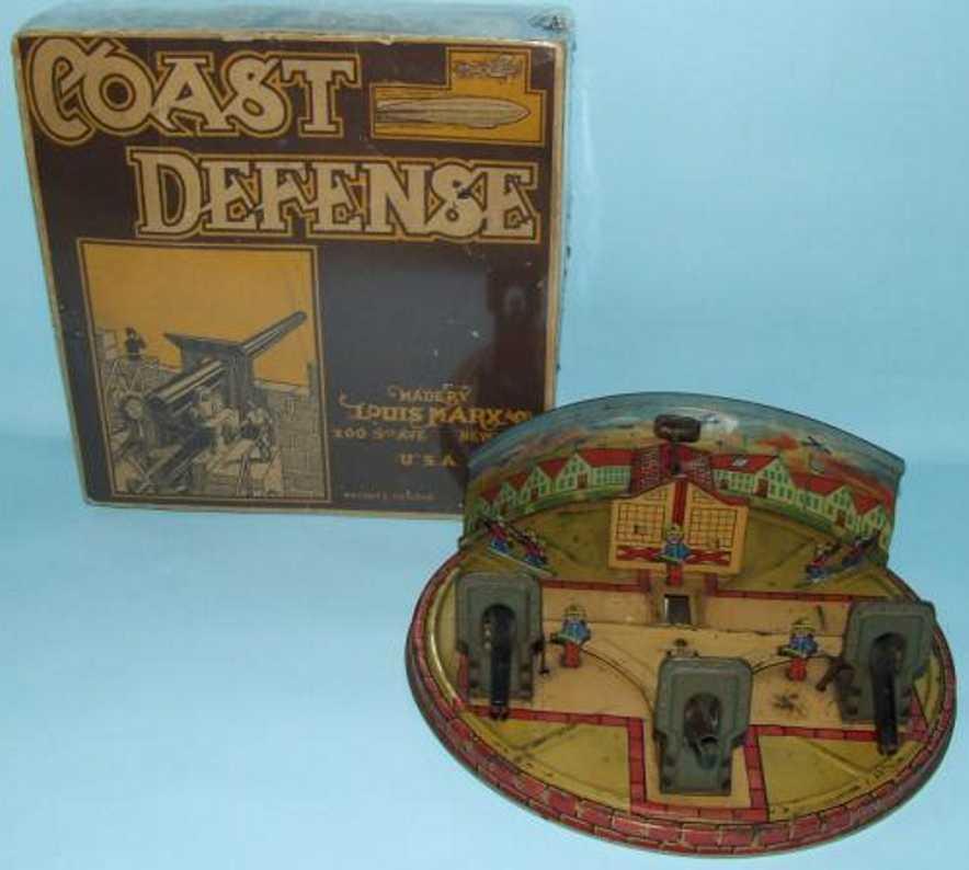 marx louis tin toy coast defense