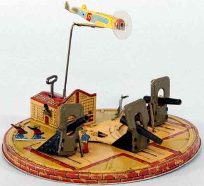 marx louis tin toy coast defense clockwork