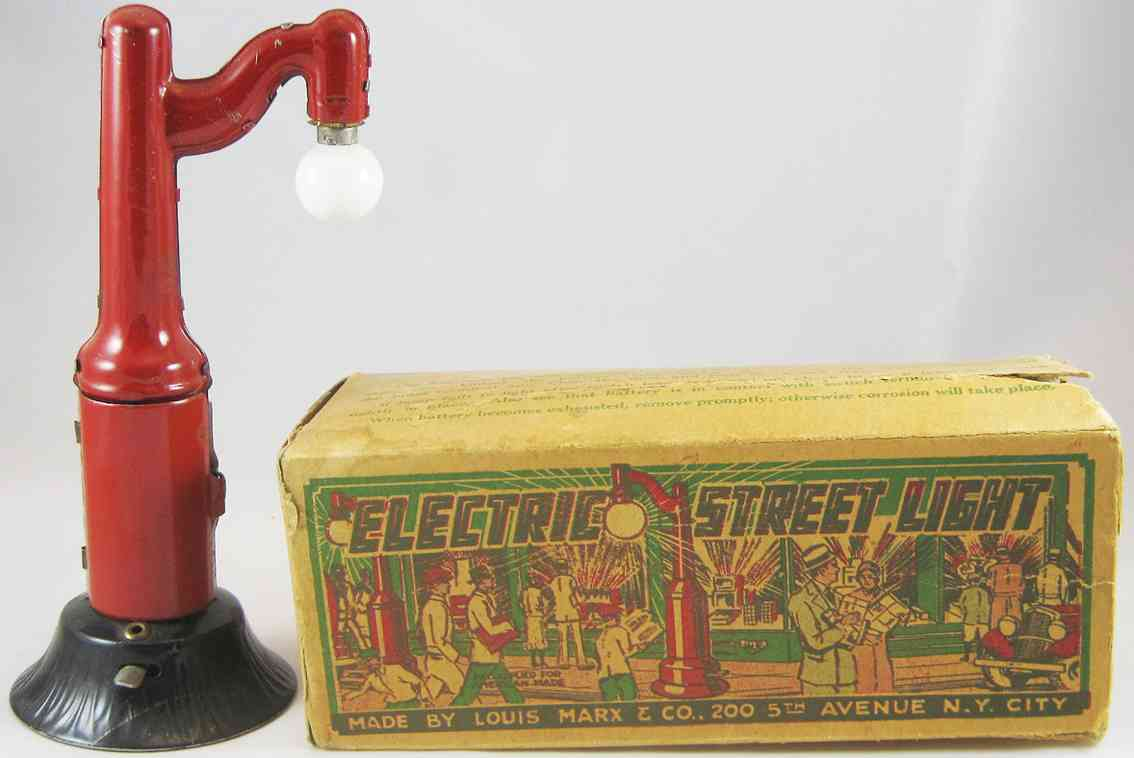 Marx Louis Elektrische Straßenlampe mit Batterie und Hebel